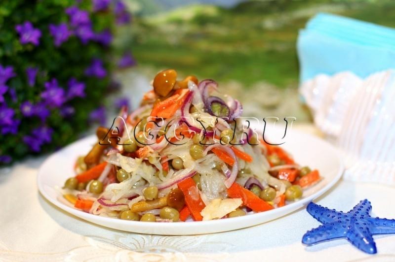 Вкусные рецепты салатов в пост с