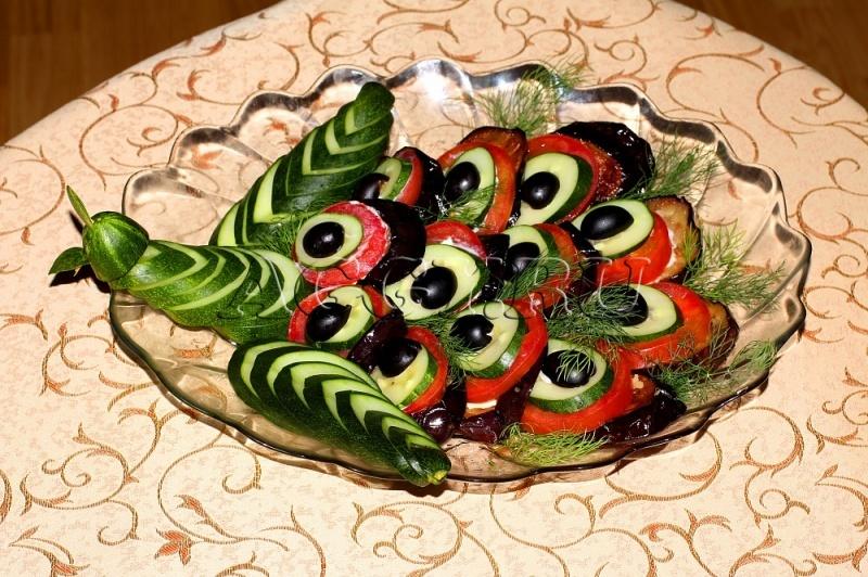Хвост павлина салат