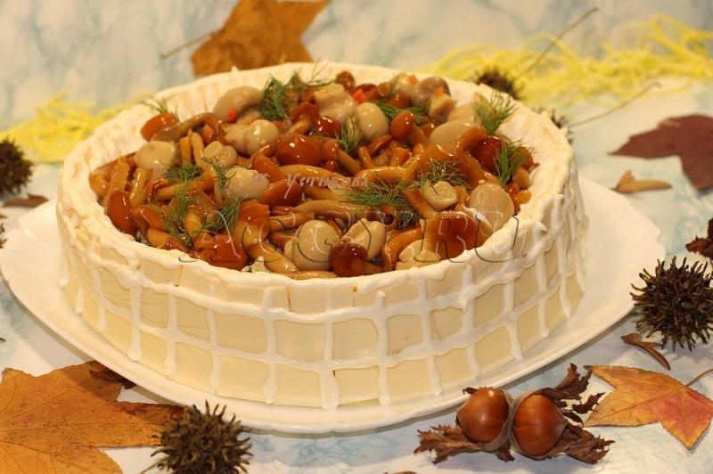 грибная поляна салат рецепт с фото