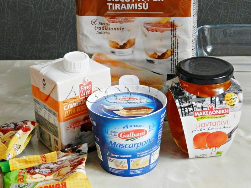 Рецепт тирамису маскарпоне сливки